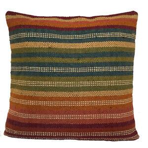 Handmade Kilim Cushion Cover Rainbow Ethnic Rustic Indian Moroccan 60cm x 60cm