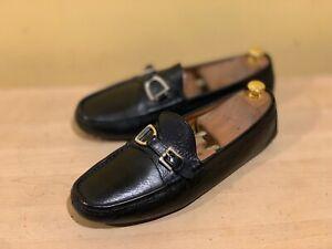 Ralph Lauren Collection Buckle Bit Driving Loafer Shoe Black  10.5 D $425