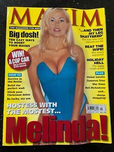 maxim magazine Issue 46 February 1999 - Melinda Messenger