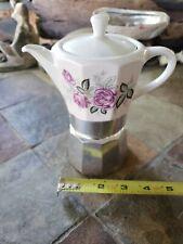 Vtg Alpu Puppy Express Espresso Coffee Maker Porcelain Tea Italy