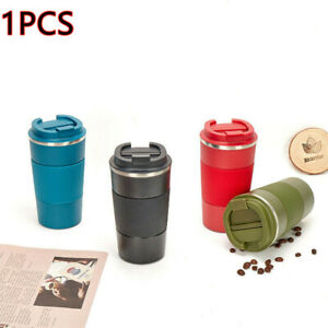 380ML/510ML Coffee Insulated Mug Vacuum Cup Water Thermos Bottle Stainless Steel
