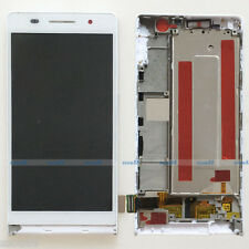 White Huawei Ascend P6 P6-U06 LCD Display Touch Screen Digitizer Assembly+Frame
