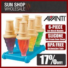 BPA Free! AVANTI Frozen Ice Cream Cone Ice Block Moulds 6 Piece Set! RRP $22.95!