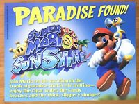 Super Mario Sunshine Gamecube 2002 Vintage Print Ad/Poster Art Official Promo