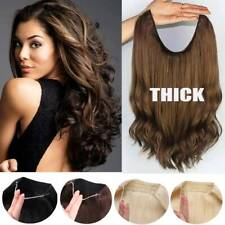 Russian Thick Wire In Remy Human Hair Extensions Hidden Headband One Piece Halos