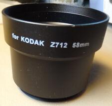 New 58mm Black Lens Adapter Ring Tube for Kodak Z712