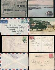 GIBRALTAR 1906-59 PPCs + COVERS...7 ITEMS