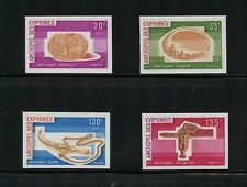 Comoros 1975  artifacts sword bracelet  IMPERF  4v.    MNH N051