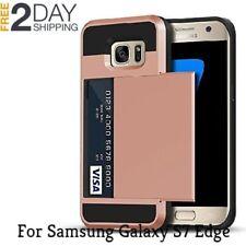 Samsung Galaxy S7 Edge Wallet Case Credit Card Pocket Hard Shockproof Bumper New