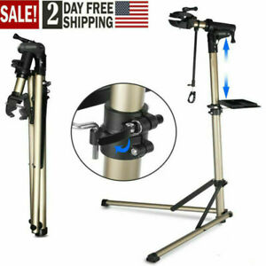 Adjustable Height Bicycle Bike Repair Stand Mechanic Folding Maintenance Station