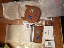 Coach F22960 F23774 Round coin case and card case combo with glitter cheeky nwt