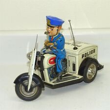 Vintage Nomura Patrol Auto-Tricycle, Battery Operated Toy, 3 Wheel Motorcycle