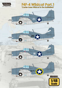 Wolfpack WD48001, F4F-4 Wildcat Part.1 'Carrier Base Wildcat , SCALE 1/48