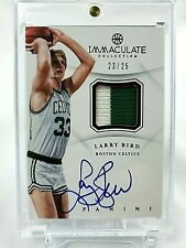 2012-13 Panini Immaculate RED LARRY BIRD 2CL PATCH AUTO # /25 RUBY