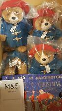 M&S 1 Paddington Bear & 1 Natale visitatore pacchetto LIBRO-Edizione Limitata-Nuovissimo con etichetta
