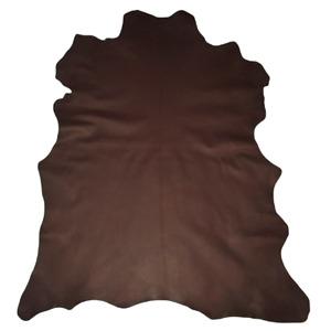 Premium Dark Brown Garment Grain Goatskin Leather Hide Bookbinding Buckskin