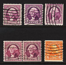 1932 Sc#720 721 722 723 Coils & Line Pair Used Clean Sound 19447