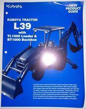 *Kubota L39 Tractor Loader Backhoe New Product Guide Sales Brochure ad BT1000