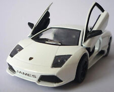 PERSONALISED PLATE White Lamborghini Toy Car Boys Dad Model Birthday Present