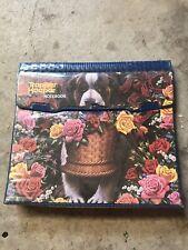 Mead Trapper Keeper Portfolio Notebook 29096 Vintage 1994 Dog St.Bernard Flowers