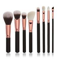 New 8PCS Pro Cosmetic Makeup Brush Set Foundation Powder Brushes Eye Shadow Kit