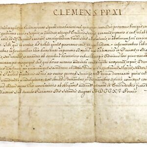 Papal Breviary Brief Manuscript - Pope Clement XI - 1715 AD - Vatican Document