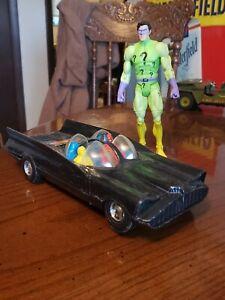 Vintage Batmobile and Riddler