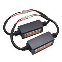 2x H1 Led Headlight Canbus Error Free Anti Flicker Resistor Canceller Decoder BC