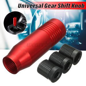 Universal Aluminum Manual Car Auto Gear Stick Shift Knob Shifter Lever Kit Red
