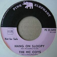 """7"""" The McCoys Hang On Sloopy I Can't Explain It Rare Holland Pink Elephant Promo"""
