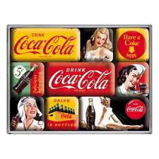 COCA COLA Magnet Set 9teilig DRINK COCA COLA Kühlschrank Magnete Coke NEU OVP