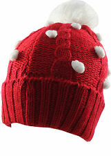 Christmas PomPom Hat- Red/White
