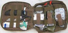 Military Coyote Combat Drop Leg Type Casualty Response Kit IFAK Level 1 Enhance