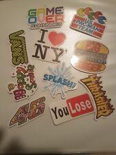 10 Fun Grafitti themed stickers suitable for laptops, cases, folders, windows et