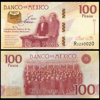 Mexico 100 Pesos, 2016/2017, P-New, UNC>100th COMM.
