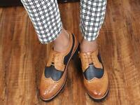 Brogue Fashion Mens British Style Dress Formal Wingtip Shoes Casual Lace-up New