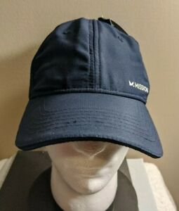NEW Mission Performance Instant Cooling Hat Navy UPH 50 Sun Protection Golf