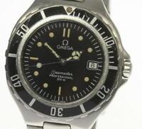 OMEGA Seamaster 200m Date Black dial W buckle Quartz Men's Wrist Watch_476379