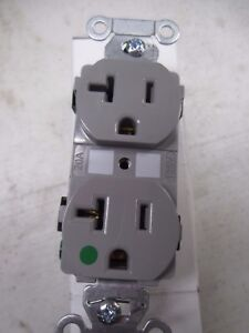 New case of 10 hubbell 8300-GY Gray Duplex Receptacle 20A-125V AC