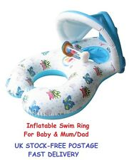 Inflatable Swim Ring For Baby & Mum Swimming Pool Beach Junior Babies Toddlers