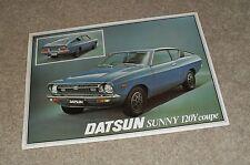 Datsun Sunny 120Y Coupe Brochure 1977