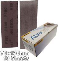 Mirka Abranet P180 Hook-It Loop Grip Strips 70x198mm - Pack 10 Sanding Sheets