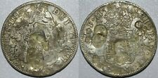 1797 FM Mexico 8 Reales ~ Heavy CHOPMARKS ~ Spanish Colonial ~ Silver ~ CM6