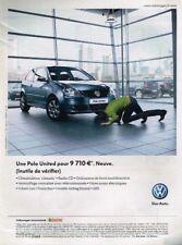 B- Publicité Advertising 2009 La Volkswagen Polo United