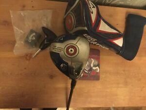 Callaway Big Bertha Alpha Driver reg flex,headcover ,adjustment tool