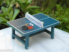 Miniature Dollhouse Fairy Garden Furniture ~ Small Ping Pong Table ~ New