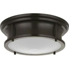 "Progress Lighting Fresnel Lens 12-3/4"" LED Flush Mount, Bronze - P350113-108-30"