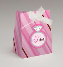 12 Wedding Diamond Ring I DO Party Favor Tent BAG Bridal Shower Bachelorette