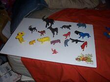 MPC ZOO JUNGLE ANIMAL VINTAGE PLASTIC TOY LOT BUFFALO LION AND ELEPHANTS