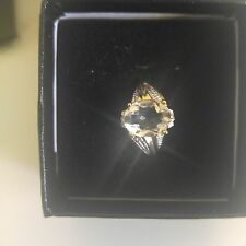 Beatiful Womens 14k   Y Gold over SS 2 Diamonds 2.4 CTW  Green  amethist  Size 7